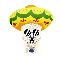 Hand-painted skull hat,