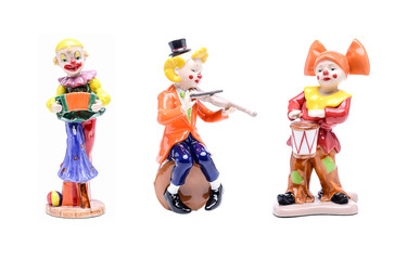 Orchestra of clown figurines