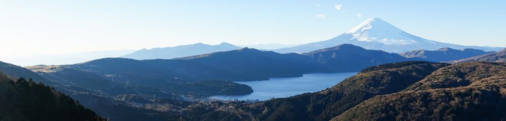 Mt. Fuji and Lake Ashi (富士山と芦ノ湖)