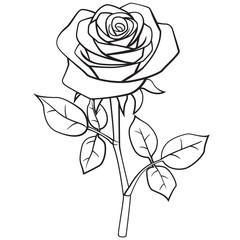 Rose cartoon style