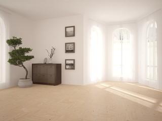 White interior design