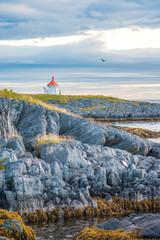 Autumnal coast landscape in northern Norway