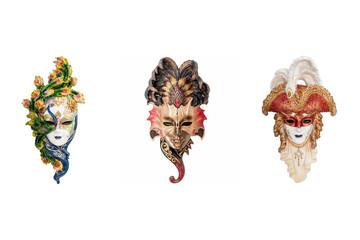 Venetian full-face masks for Venice Carnival