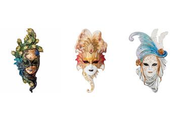 Venetian full-face masks for Carnival
