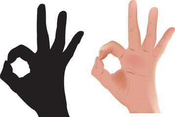 segnale con dita della mano