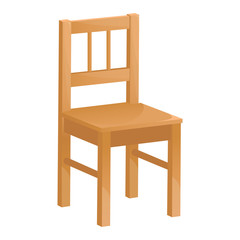 Image of a wooden chair on a white background