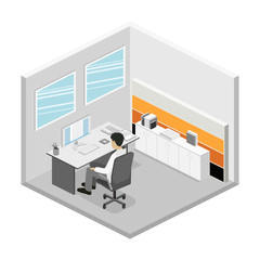Set of isometric business people , info graphic vector design