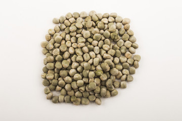 dried peas, isolated on white background