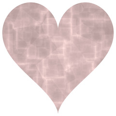 Old pink abstract big heart shape image