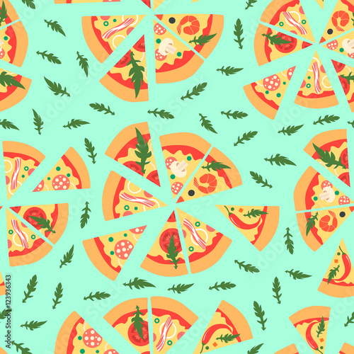 repeating pizza background - photo #6