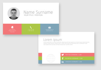 Three-Color Stripe Business Card Template