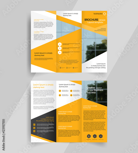 Business tri fold brochure layout design vector a4 brochure business tri fold brochure layout design vector a4 brochure template flashek Choice Image