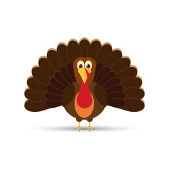 turkey flat icon.