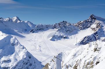 Pitztaler Gletscher Alpenpanorama im Winter