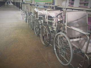 wheelchairs in hospital