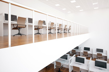 Two-storeyed coworking office interior