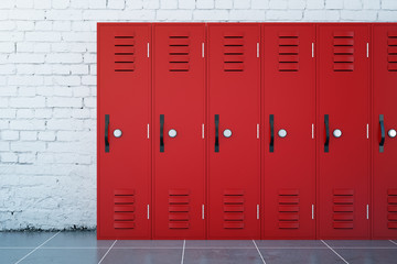 Red lockers