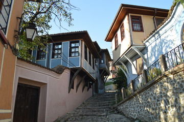 Street in the old town of Plovdiv, Bulgaria