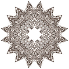 Abstract vector round lace design mandala