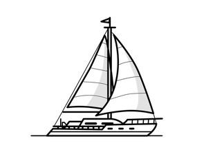 Boat outline illustration