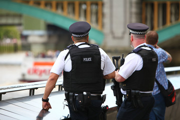 Policiers en gilets pare-balle