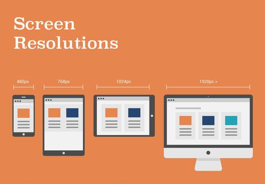 Screen Resolutions Illustrations