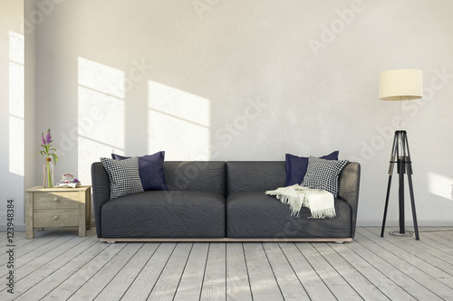 skandinavisches nordisches wohnzimmer sofa couch textfreiraum platzhalter photo libre. Black Bedroom Furniture Sets. Home Design Ideas