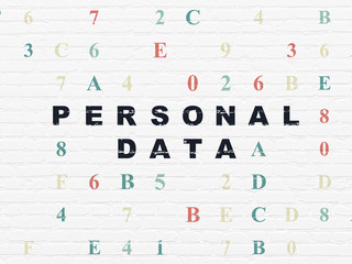 Information concept: Personal Data on wall background