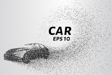 Car from the particles. The car disintegrates to smaller molecules.