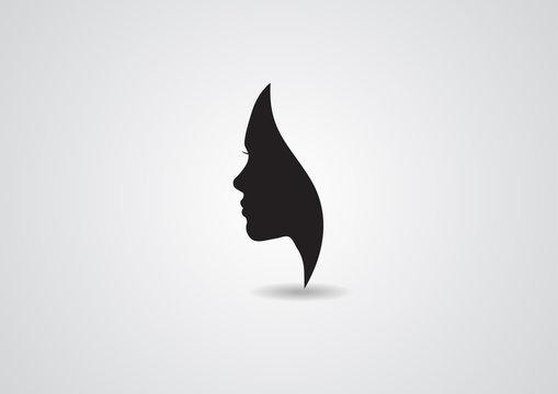 vector women silhouette beauty female logo lady icon