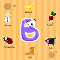 Literka B i słowa z nią związane