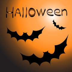 Happy Halloween. Vector of black bat. Halloween background.