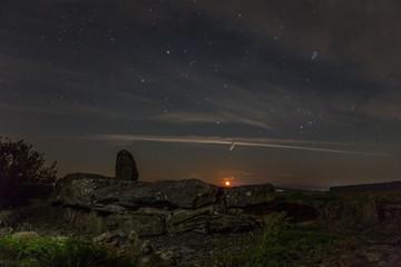Mondaufgang in Muschenheim ( Heiliger Stein )