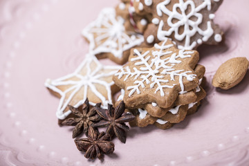 Weihnachtshintergrund Kekse