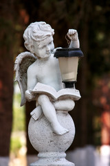 Statue of child angel