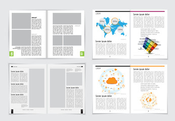 Layout  for business presentation and magazine, vector