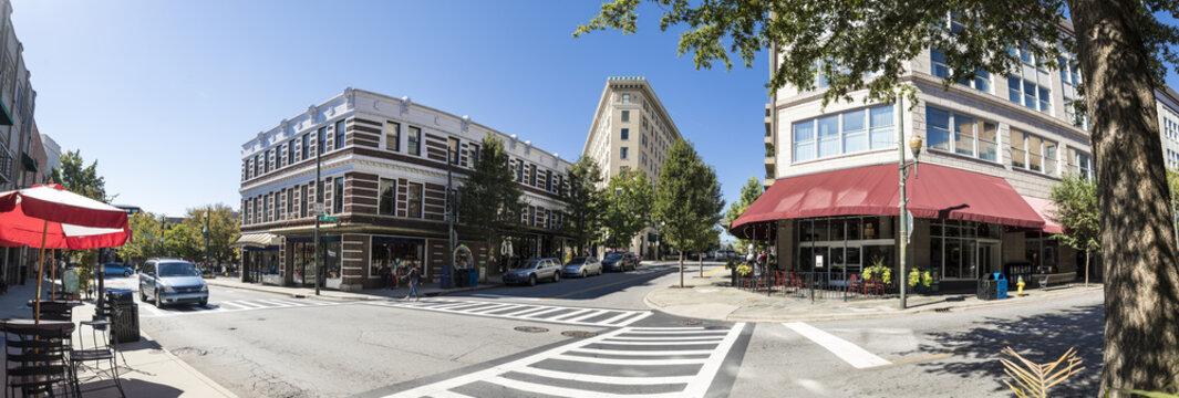panorama of downtown Asheville, North Carolina