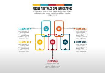 Phone Abstract Options Infographic