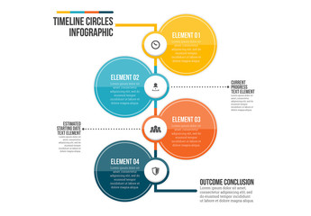 Timeline Circle Infographic 1