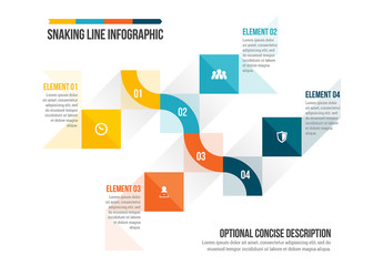 Snaking Line Infographic 1