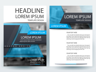Brochure Template flyer  design of annual report with blue color in layout size A4 , Vector illustration