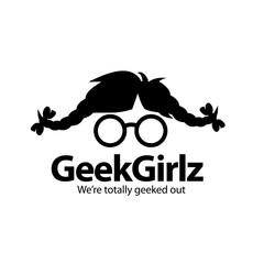 Geek girl icon design. EPS 10 vector.