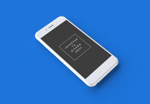 Maqueta compatible con iPhone blanco