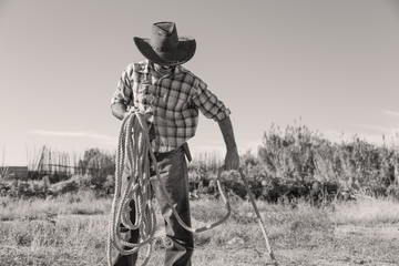 cowboy, collecting rope