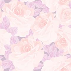 Floral seamless pattern. Flower rose texture Pastel garden background. Floral tile ornament