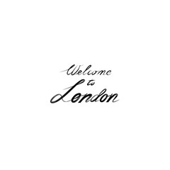 London sign handwritten lettering London city Typography Graphic