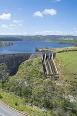 Dam of Myponga Reservoir, Myponga, South Australia