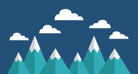 mountains landscape beautiful icon vector illustration design