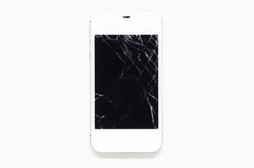 Mobile phone screen is cracked