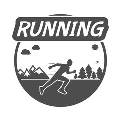 Modern vector symbol and logo for run.